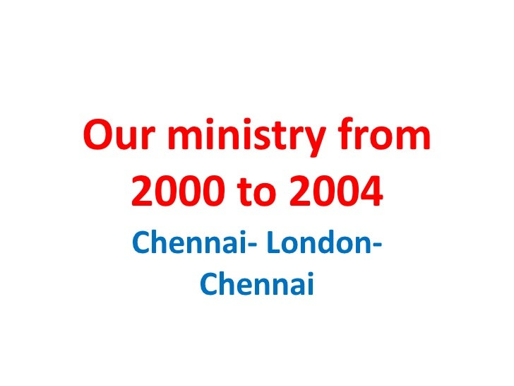 ministries in bangalore city India