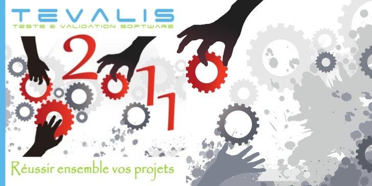 Carte de voeux TEVALIS 2011