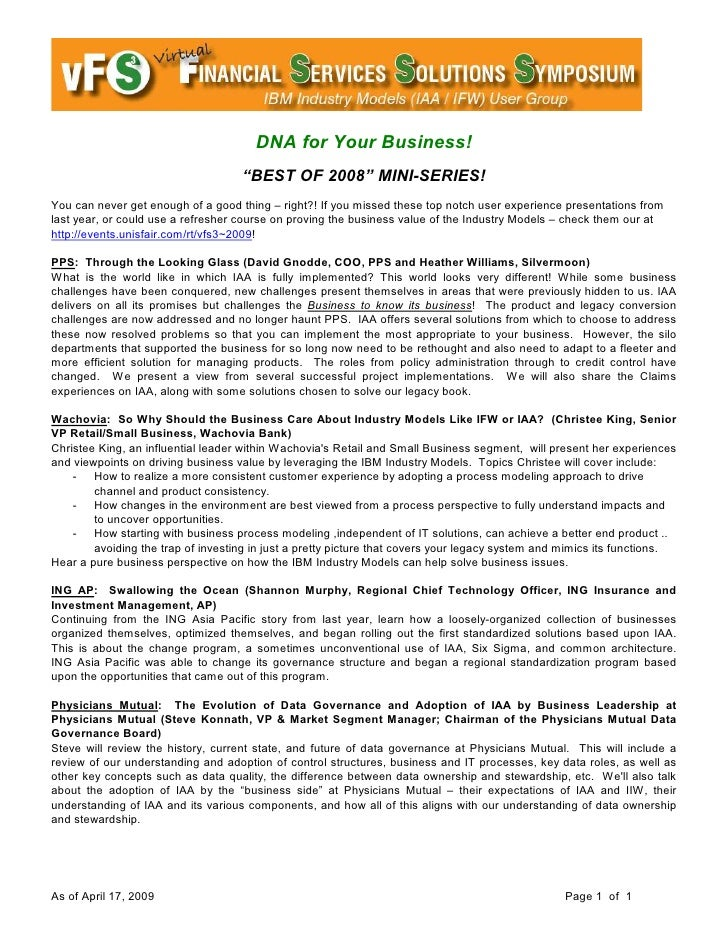 """DNA for Your Business!                                     """"BEST OF 2008"""" MINI-SERIES! You can never get enough of a good ..."""