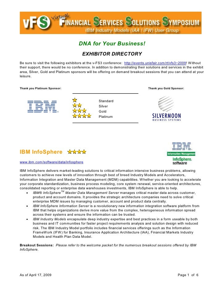 DNA for Your Business!                                        EXHIBITOR DIRECTORY Be sure to visit the following exhibitor...