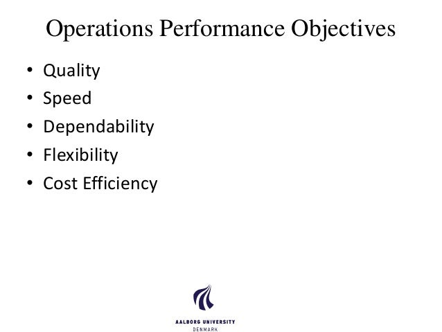 tqm 5 performance objectives Total quality management and organisational performance in the  15 objectives of the study 8  44 total quality management and performance.