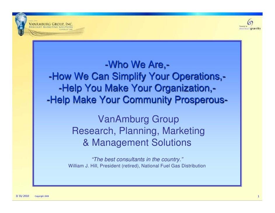 VanAmburg Group Inc.  Who  We  Are