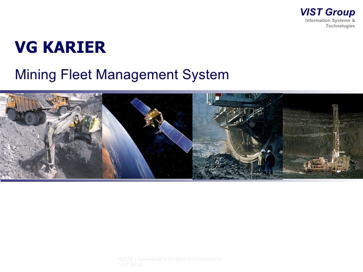 VG KARIER Mining Fleet Management System