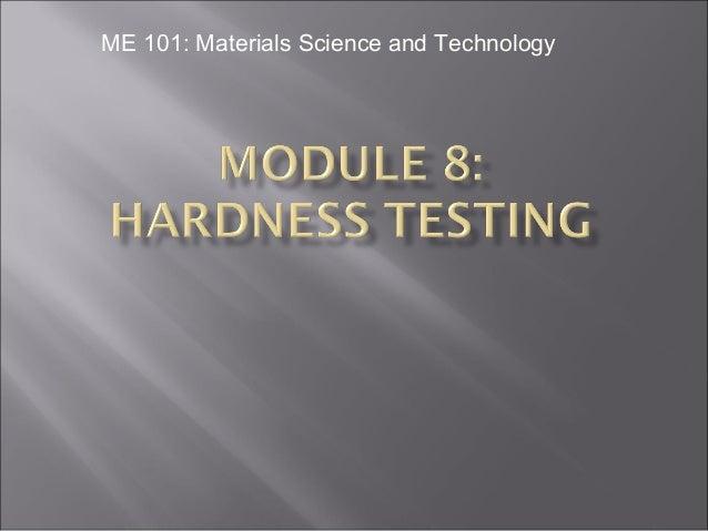 Presentation on Hardness Testing