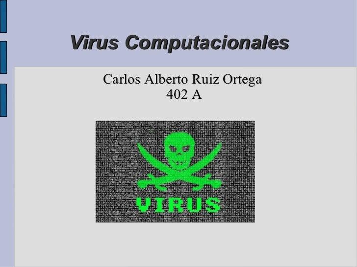 Virus Computacionales Carlos Alberto Ruiz Ortega  402 A