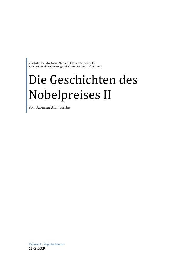 vhs Nobelpreise II