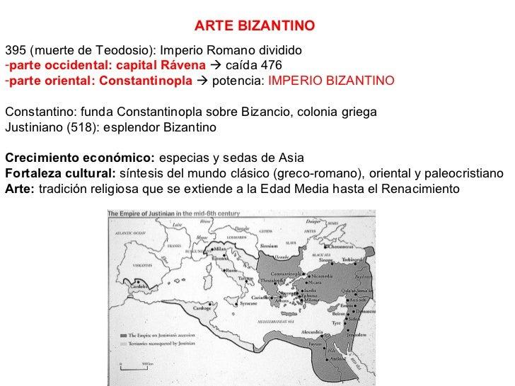 <ul><li>395 (muerte de Teodosio): Imperio Romano dividido </li></ul><ul><li>parte occidental: capital Rávena     caída 47...