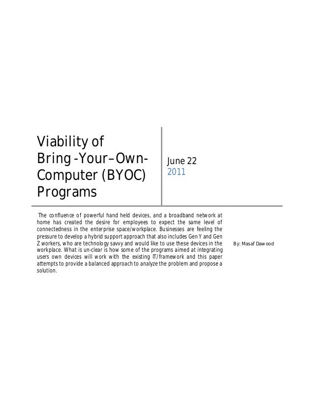 Viability ofBring -Your–Own-                                      June 22                                                 ...