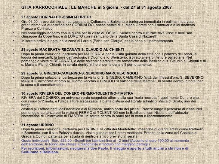Viaggio Marche2007