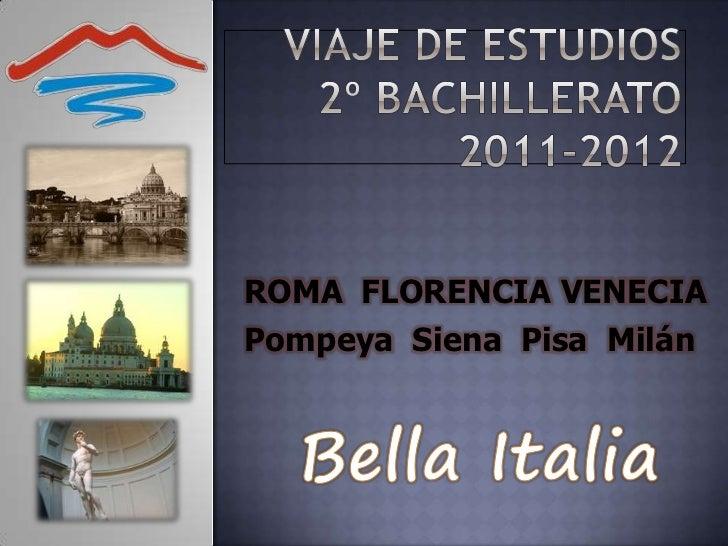 Viaje de estudios 2011 2012-italia