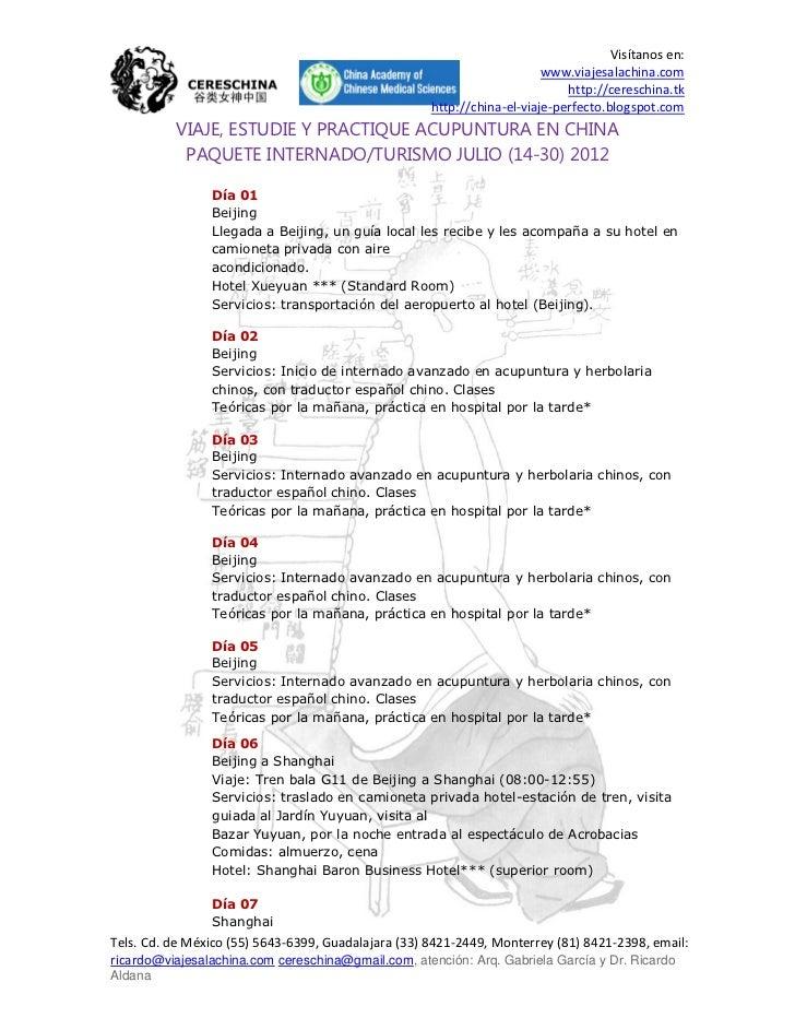 Viaje, estudie y practique acupuntura en china julio 2012