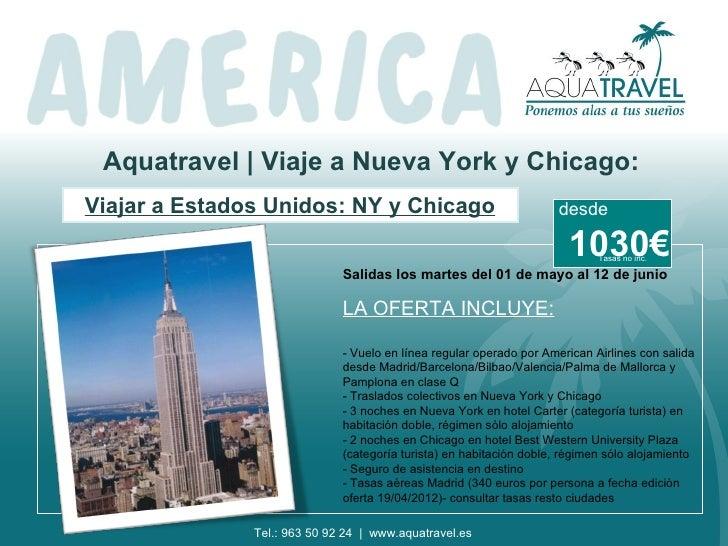 Oferta viaje a Nueva York y Chicago