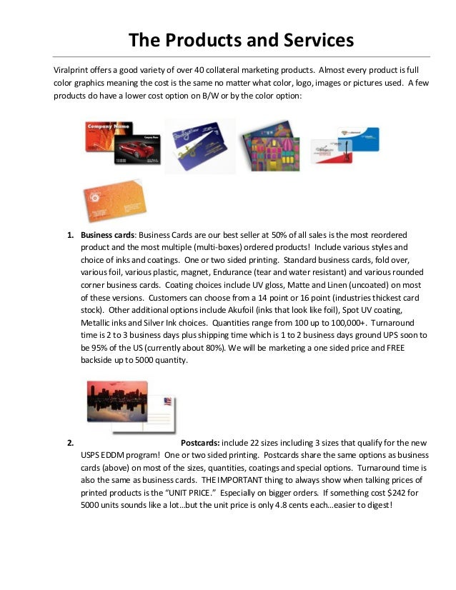 Vialprint the products and services[1]