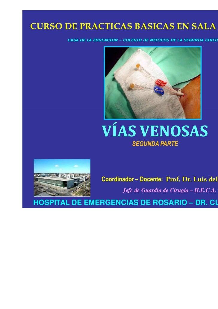 Vias venosas segunda parte. prof. dr. luis del rio diez