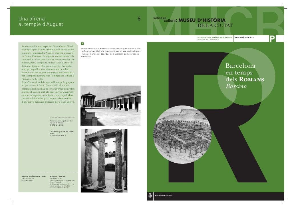 Viatge A Barcino Dossier Romans P 2ed