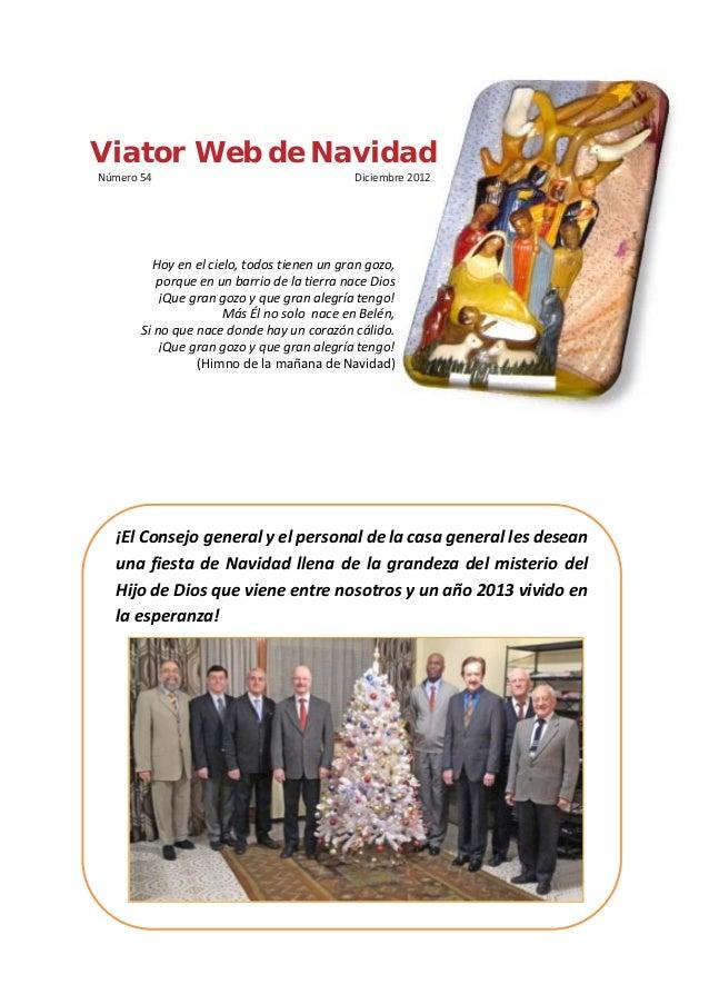 Viator Web de NavidadNúmero 54                                   Diciembre 2012         Hoy en el cielo, todos tienen un g...
