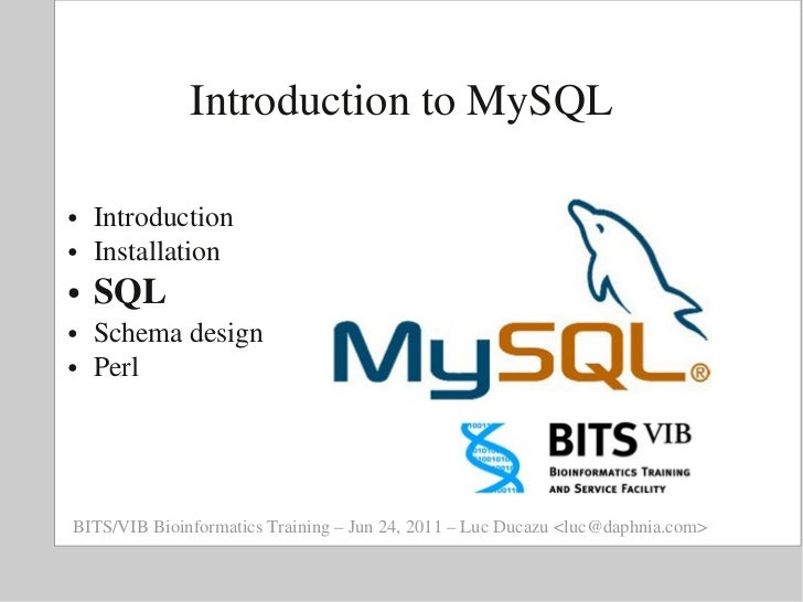 BITS: Introduction to relational databases and MySQL - SQL