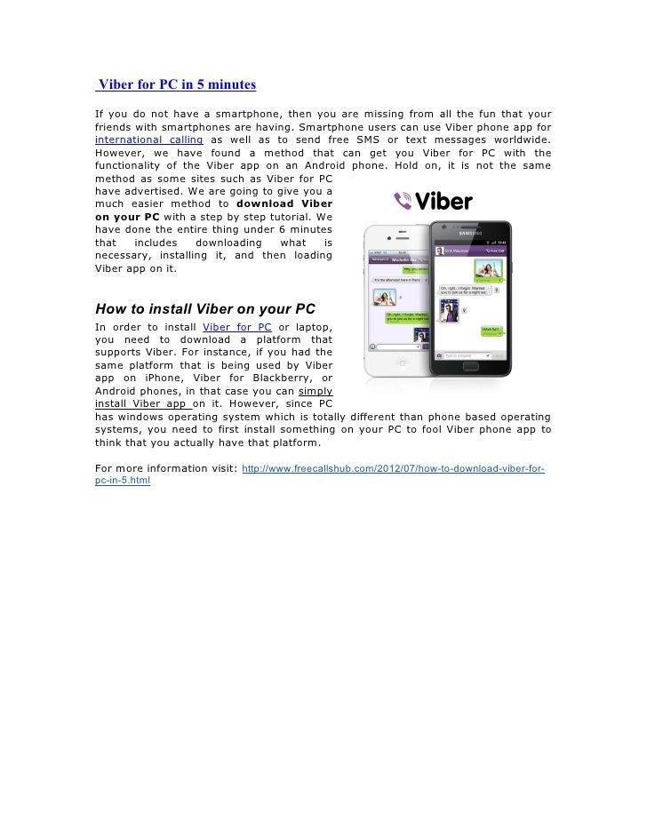 Viber for pc