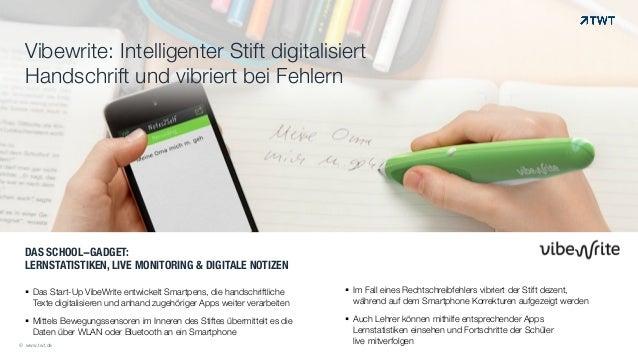 DAS SCHOOL-GADGET:  LERNSTATISTIKEN, LIVE MONITORING & DIGITALE NOTIZEN !! Das Start-Up VibeWrite entwickelt Smartpens, d...