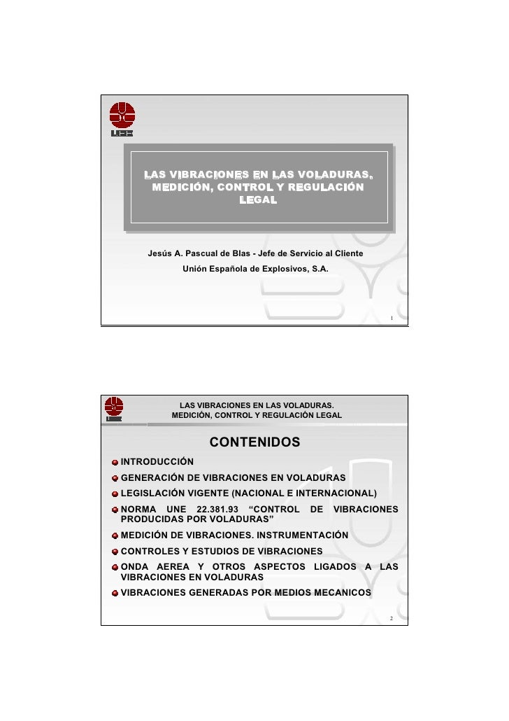 LAS VIBRACIONES EN LAS VOLADURAS.    LAS VIBRACIONES EN LAS VOLADURAS.     MEDICIÓN, CONTROL Y REGULACIÓN      MEDICIÓN, C...