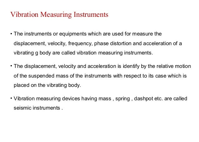 Frequency Measuring Tools : Vibration and frequency measuring instruments