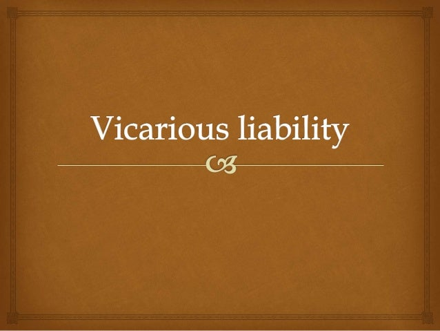 vicarious liability Finally, a doctor who has been negligent may not be the only defendant in a subsequent lawsuit a hospital that has retained the doctor on its staff may be.