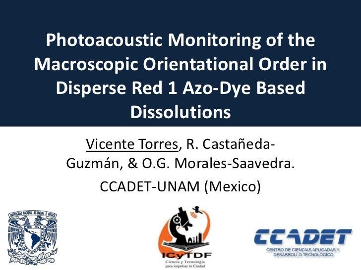 photoacoustics electroptical cell dr1