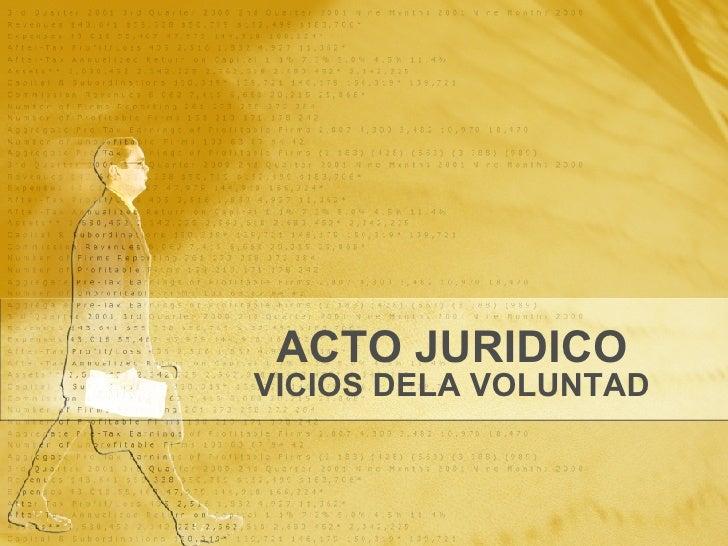 ACTO JURIDICO VICIOS DELA VOLUNTAD