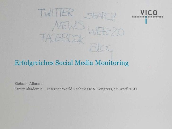 Tweet Akademie - vico reserach -120411