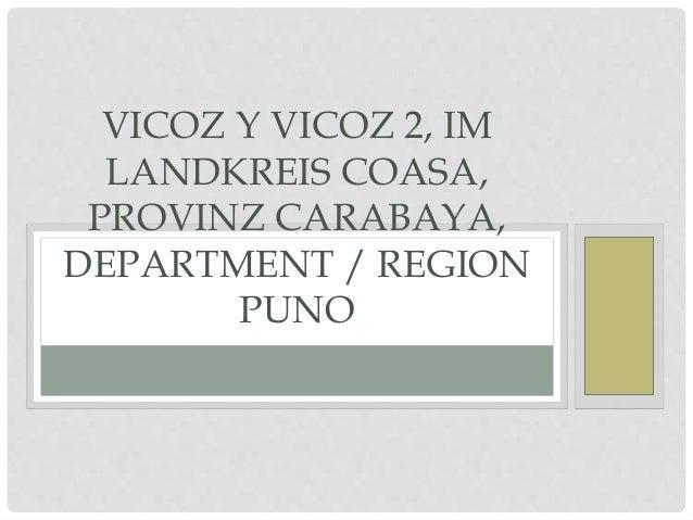 VICOZ Y VICOZ 2, IM LANDKREIS COASA, PROVINZ CARABAYA, DEPARTMENT / REGION PUNO