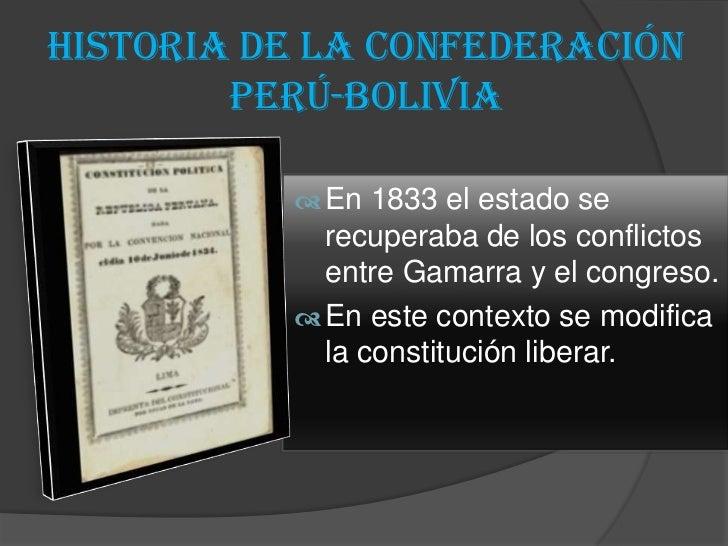 Historia de la confederación Perú-Boliviana.on