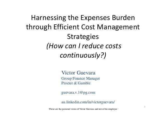 Harnessing the Expenses Burden through Efficient Cost Management Strategies (How can I reduce costs continuously?)continuo...