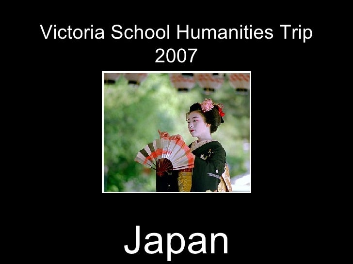 Victoria School Humanities Trip 2007 Japan Japan