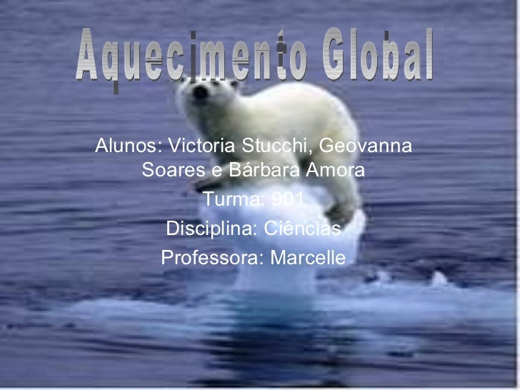 Alunos: Victoria Stucchi, Geovanna Soares e Bárbara Amora Turma: 901 Disciplina: Ciências Professora: Marcelle Aquecimento...