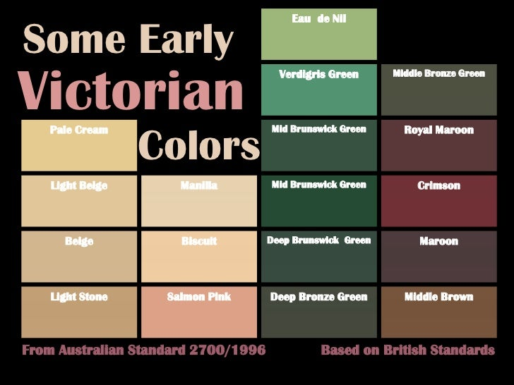 Victorian Colors Schemes