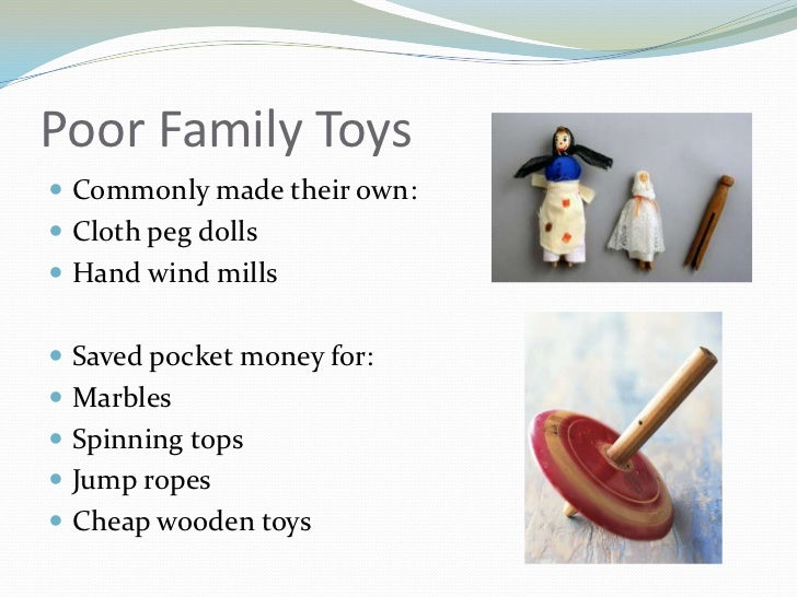 Toys For Poor : Victorian era toys