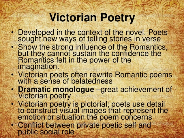 victorian and romantic poetry 'the victorian and the romantic' attempts to link writers through the ages nell stevens's new memoir is an uneven but pleasant book that braids her story of doing a phd amid an uneasy love affair.