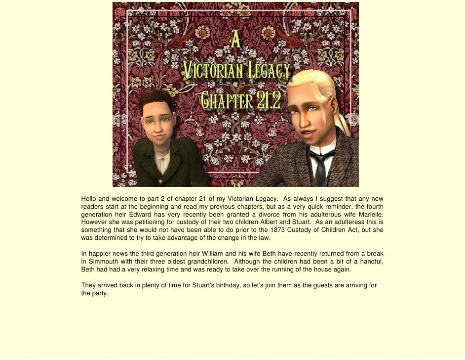 A Victorian Legacy - Chapter 21.2 I'm Getting Married in the Morning
