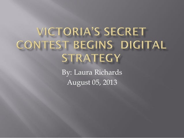 Victoria's secret contest begins  digital strategy