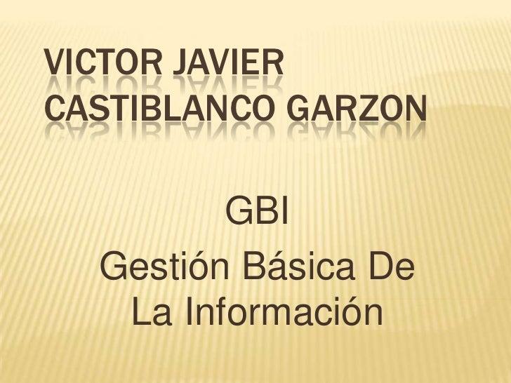 Victor Javier Castiblanco Garzon<br />GBI<br />Gestión Básica De La Información<br />
