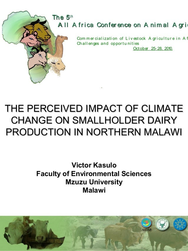 The perceived impact of climate change on smallholder dairy production in northern Malawi.