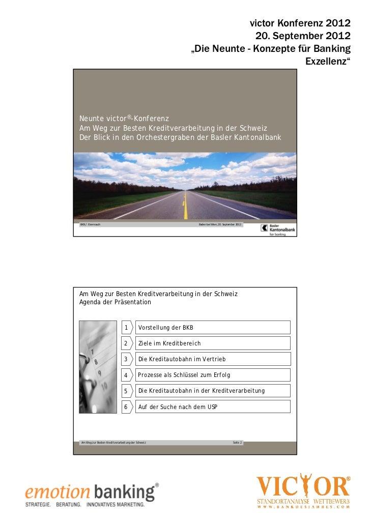 victor konferenz 2012 - Mag. Michael Eisenrauch, Baseler Kantonalbank