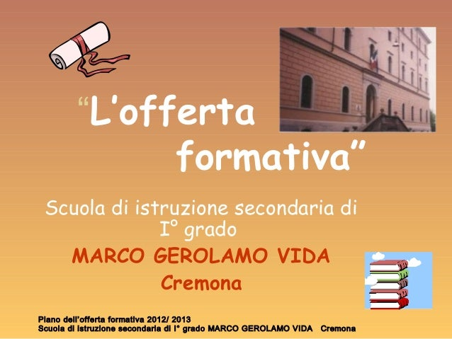 Vida.gov.it offerta formativa 2012 13