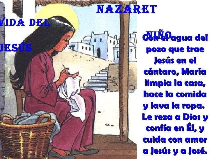 nazaretVida deL                 niño                Con el agua delJesús            pozo que trae                   Jesús ...