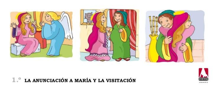 1.º   la anunciación a maría y la visitación   www.everest.es