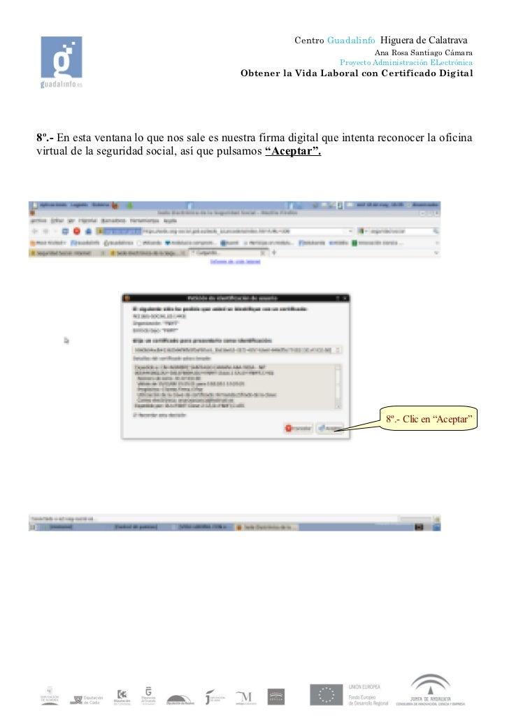 solicitud de vida laboral con certificado digital