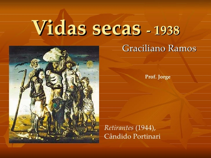 Vidas secas  - 1938 Graciliano Ramos Retirantes  (1944), Cândido Portinari Prof. Jorge
