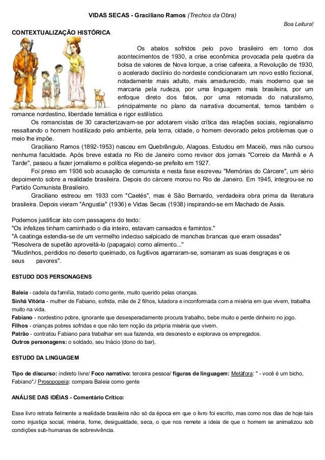 VIDAS SECAS - Graciliano Ramos (Trechos da Obra) Boa Leitura! CONTEXTUALIZAÇÃO HISTÓRICA Os abalos sofridos pelo povo bras...