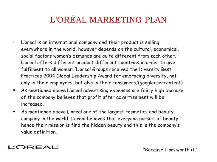 L'oreal global diversity strategy