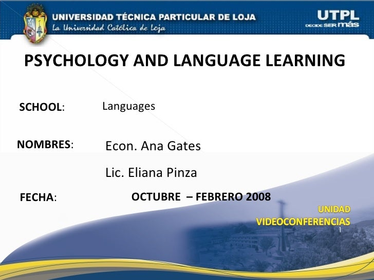 Psichology And Languaje Learning